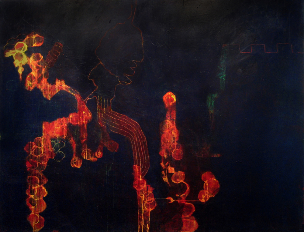 Painting 6 | Tina Douglas |  2007 | Egg tempera on canvas | 219 x 170 cm | Place Gallery, Melbourne | 2009