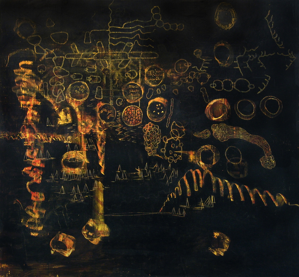 Painting 7 | Tina Douglas | 2006-07 | Egg tempera on canvas | 246 x 264.6 cm | Place Gallery, Melbourne | 2009 | Private collection