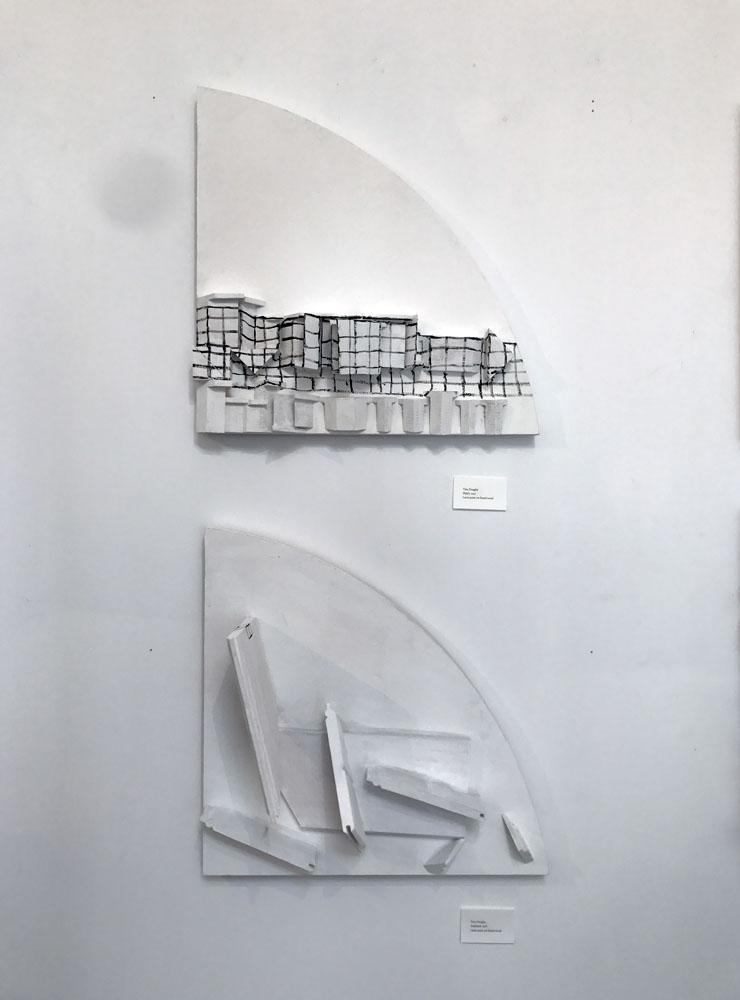 fitful2, amplitude | 40.5x 40.5x2cm | Latex paint on found wood | 2017