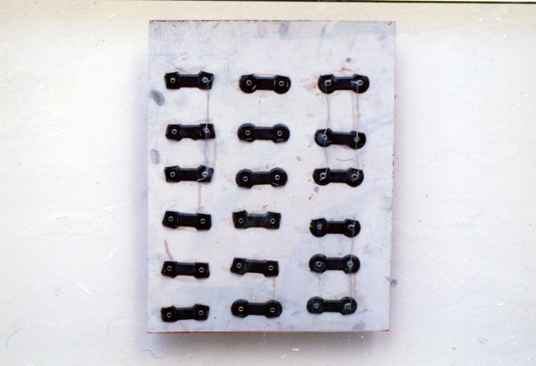 Tina Douglas | program5 | 60 x 90 cm | Found objects on board | 1993