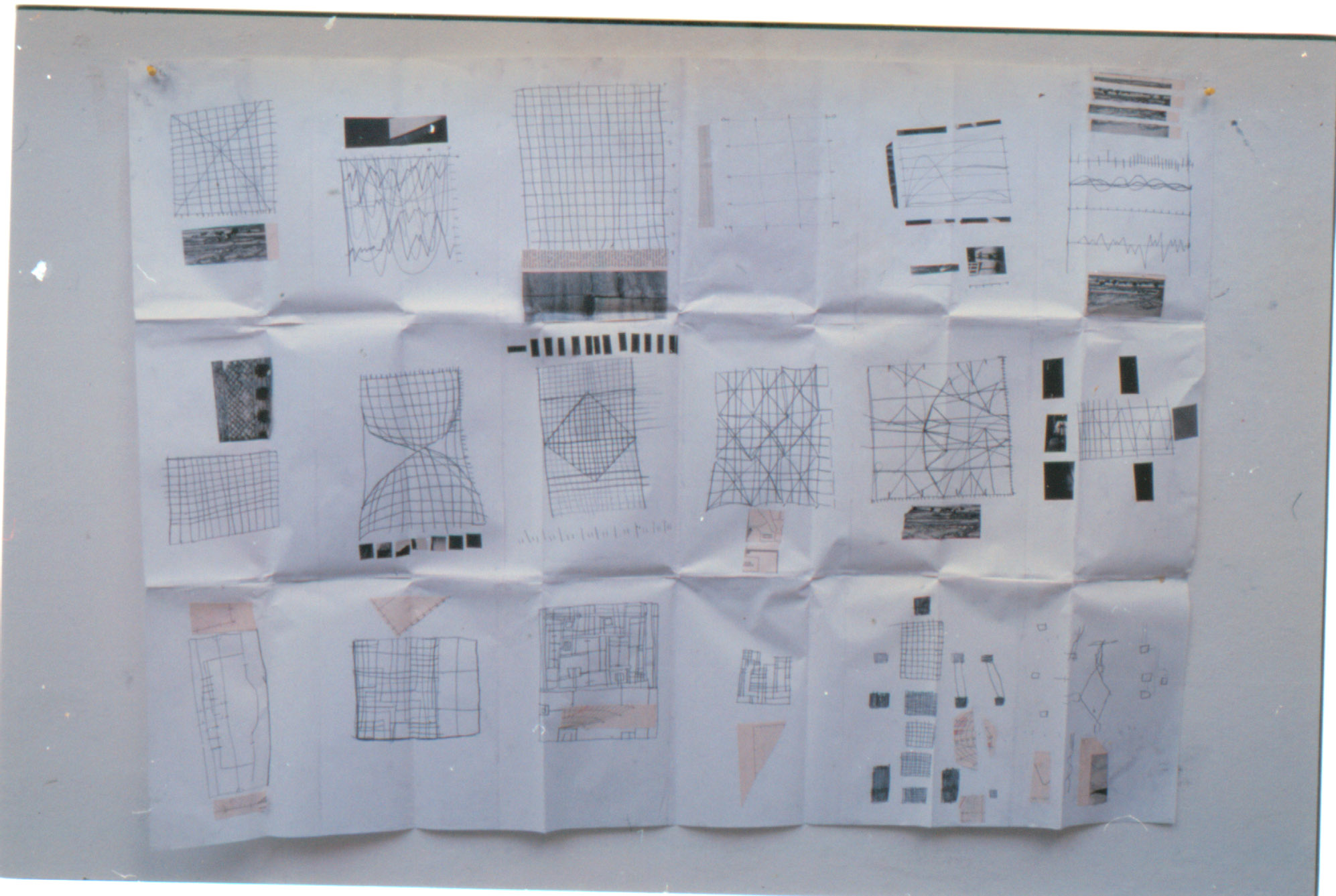 Tina Douglas | graph1 | 60 x 110 cm | Collage, graphite on paper | 1993
