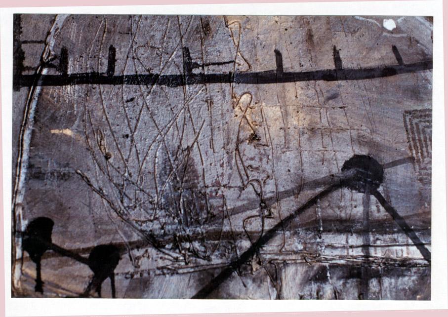 Tina Douglas | Of (detail) | Oil paint, enamel, graphite on canvas | 220 x 210cm | 1993