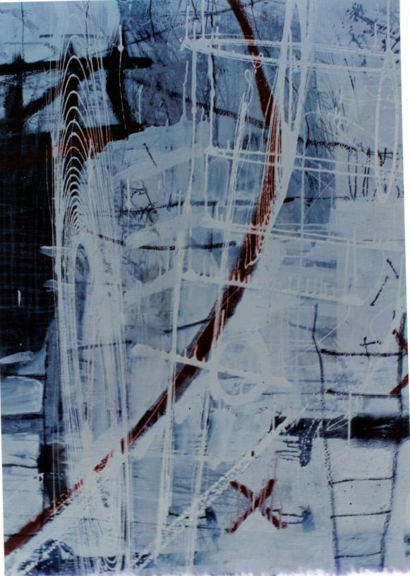 Tina Douglas | Is (detail) | Enamel, acrylic and oil stick on canvas | 200cm x 210cm | 1993