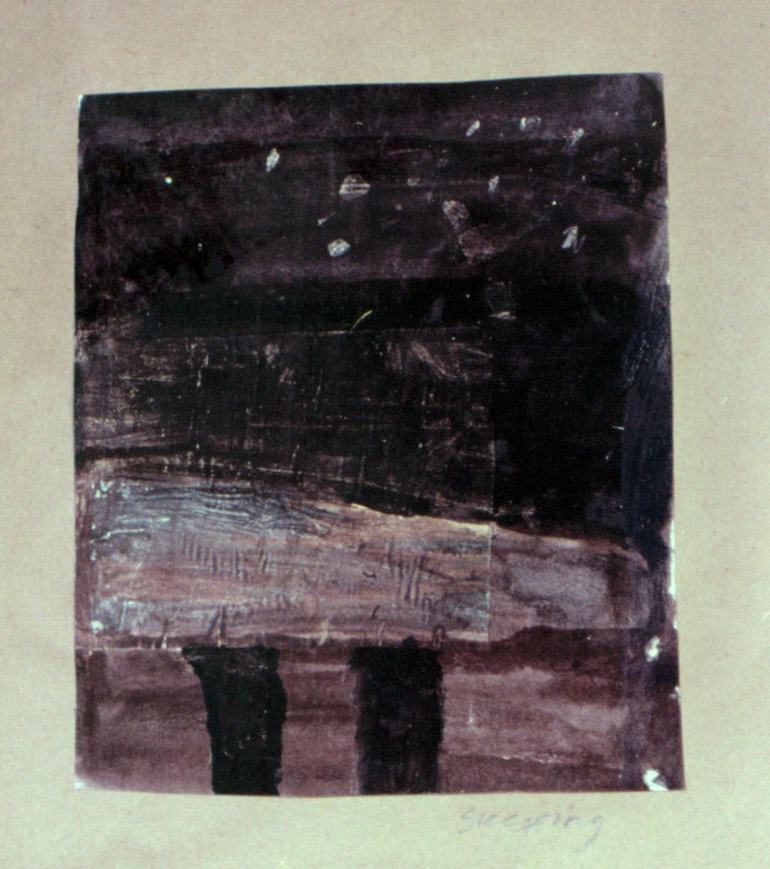 Tina Douglas | untitled | 30 x 21 cm | Acrylic, ink on Scientific American magazine page | 1993