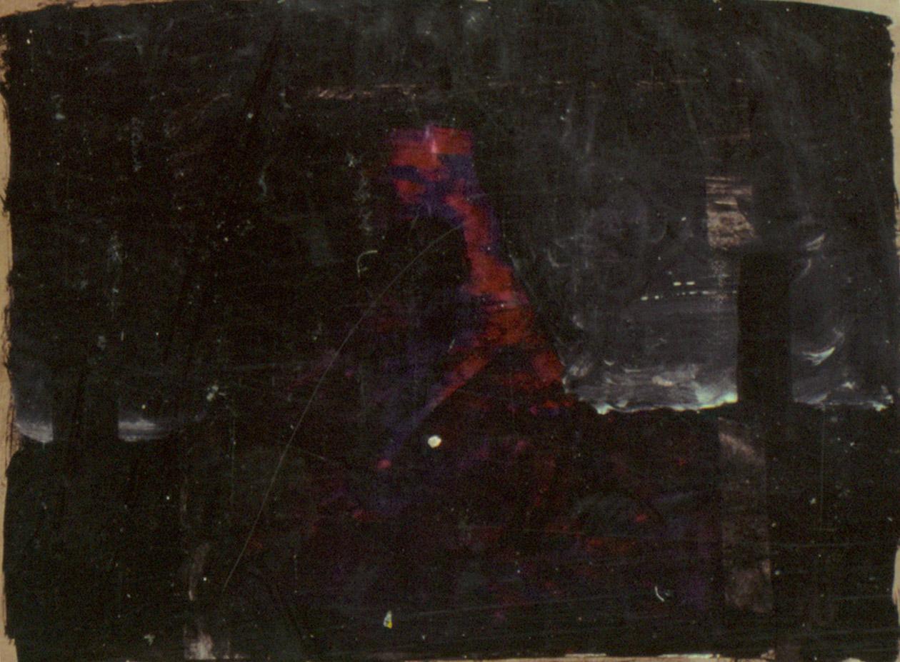 Tina Douglas | untitled | 21 x 30 cm | Acrylic, ink on Scientific American magazine page | 1993