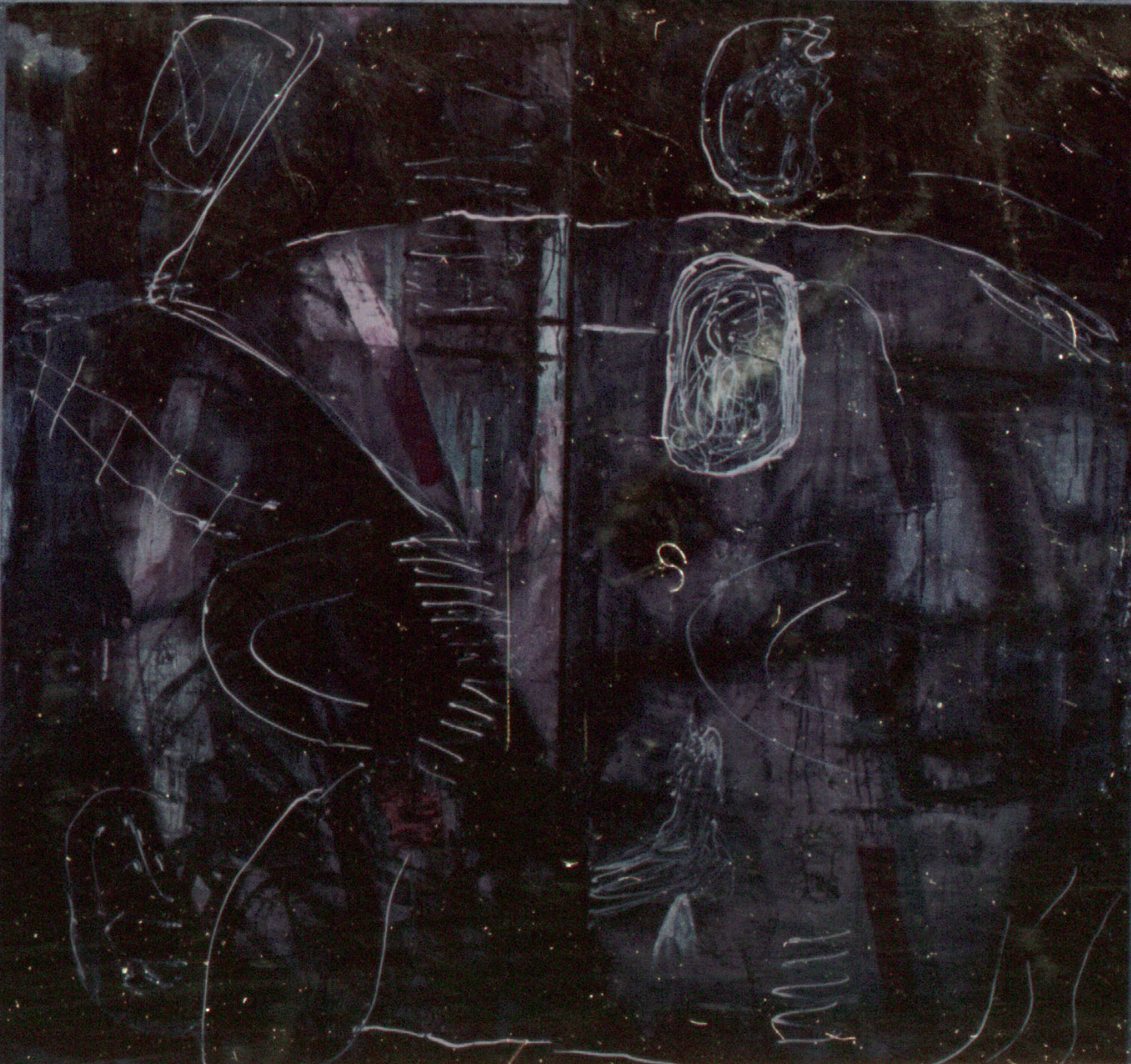 Tina Douglas | untitled | Diptych. Two panels, each110 x 50 cm | Acrylic, latex on cotton | 1991