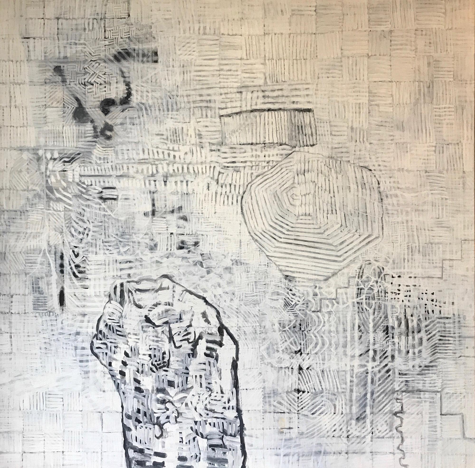 screen dump 2 2014 - 2017 | Egg tempera on linen | 183 x 183 cm