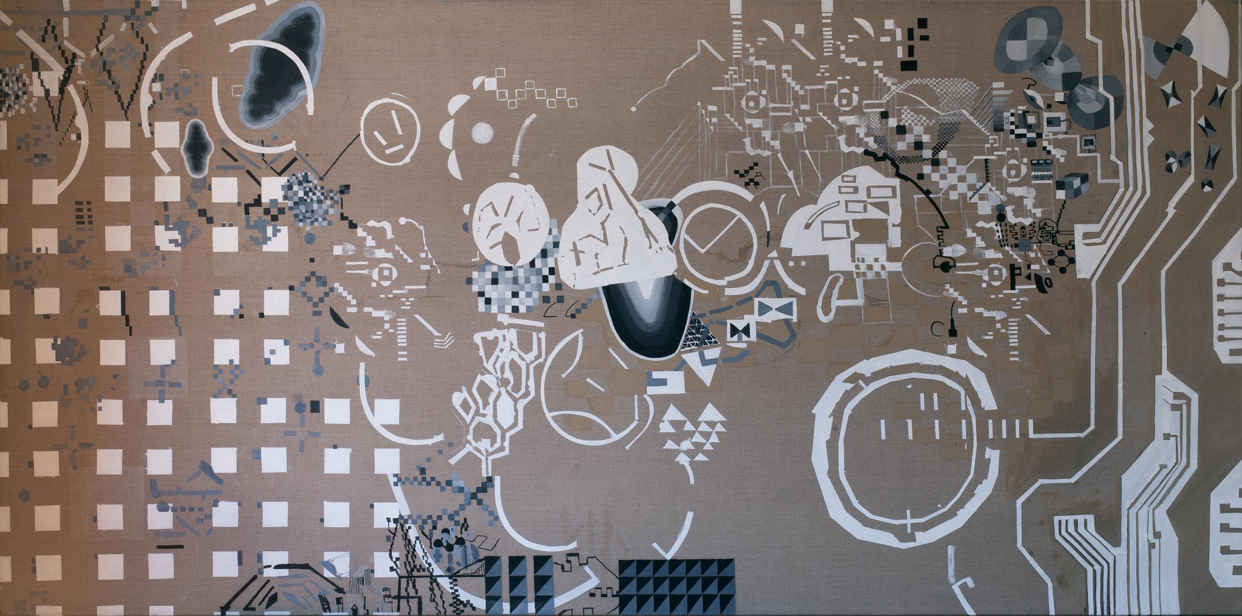 A.I Ok 2016 | Oil and egg tempera on linen | 150 x 300 cm