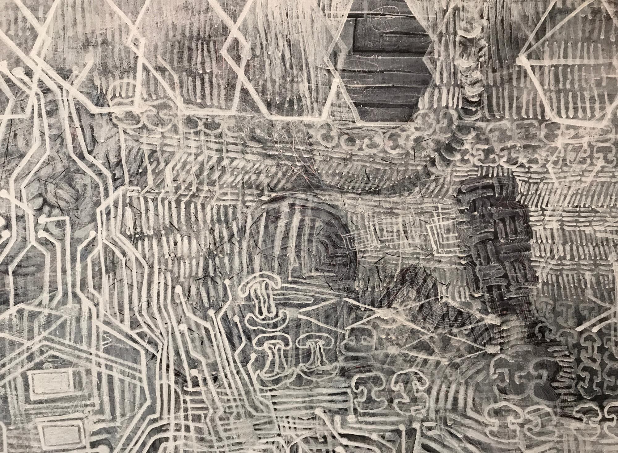 screen dump 1 (detail) 2014 - 2017 | Egg tempera on linen | 165 x 219.5 cm