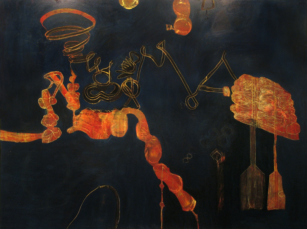 Painting 5  2007, Egg tempera on canvas, 248 x 182cm, Place Gallery, Melbourne, 2009