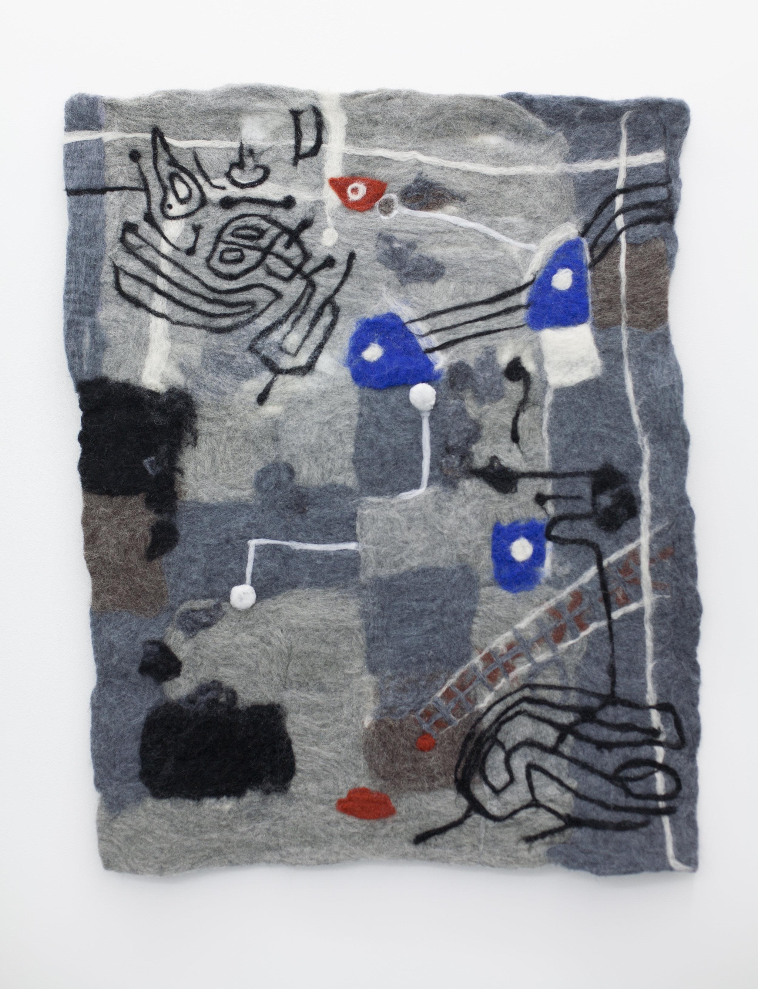 fluster 2019 wool 91 x 74 cm