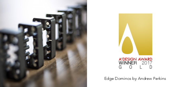 Edge Dominos was selected by an expert jury panel of leading academics, important press members and experienced professionals for excellence in design. See the full award at  https://competition.adesignaward.com/design.php?ID=54841