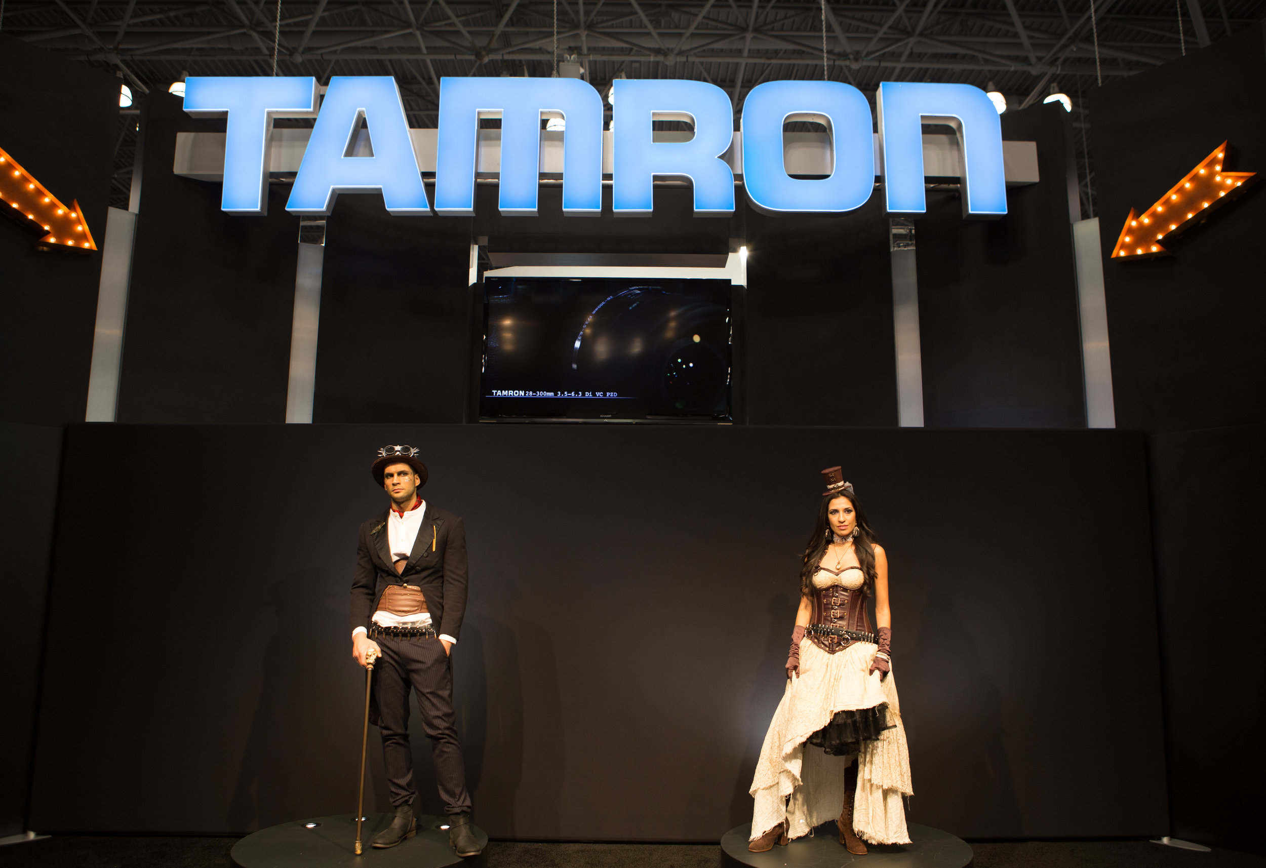 Tamron station on expo floor