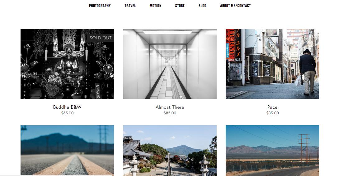 website store screen shot