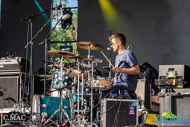🥁#drumlife @backwoodsmusicfestival  Thx to @c.macphotography!