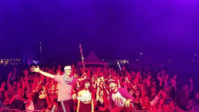 What a shot. Thank you for making us feel so at home, Shangri~La! . #linearsymmetry #tour #edm #liveedm #livemusic #liveband #touringband #tourlife #lit #electronicmusic #electronicdancemusic #ontheroad #music #travel #electricviolin #edmviolin #violin #keys #drums #shangrila #festival #musicfestival #crowdshot