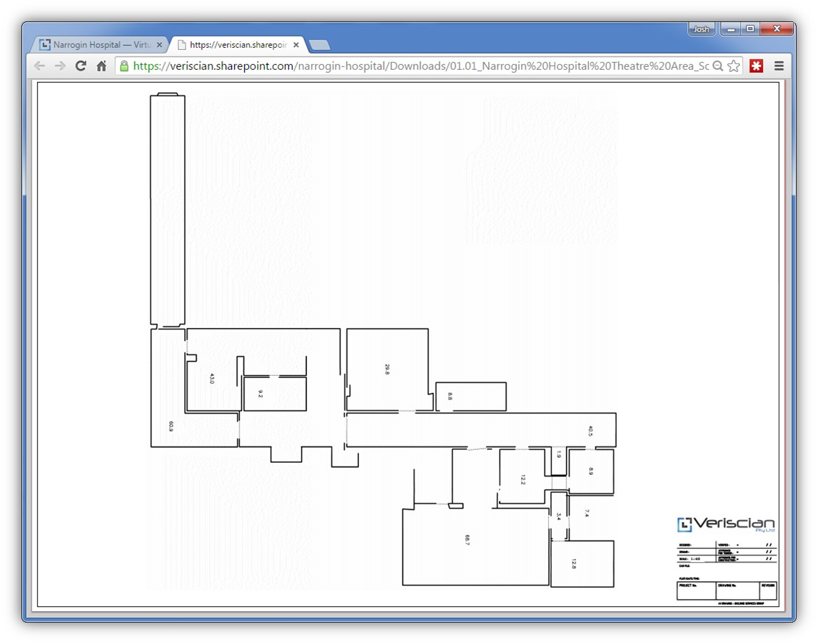 Narrogin Hospital - Schematic Floor Plan