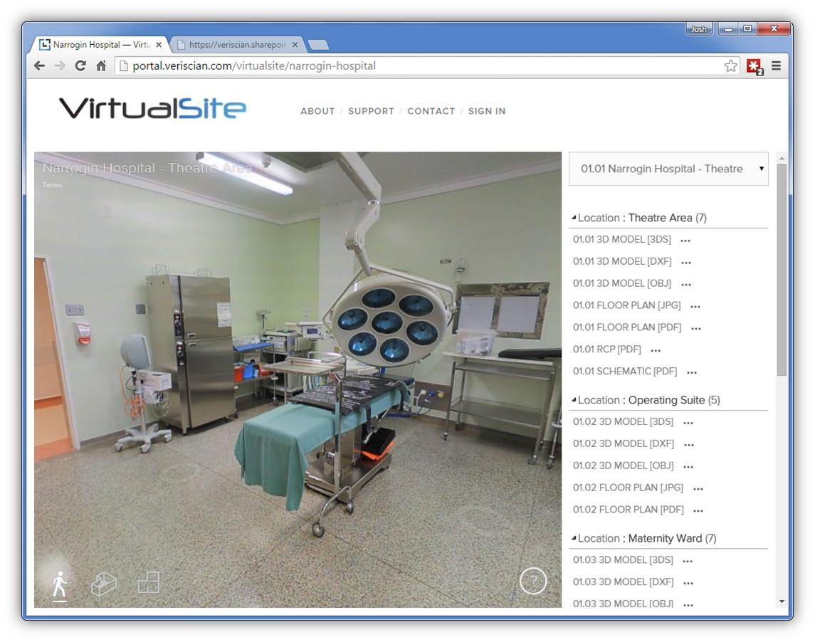 Narrogin Hospital - VirtualSite Screenshot