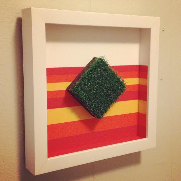 Copy of Custom framed Astros Turf