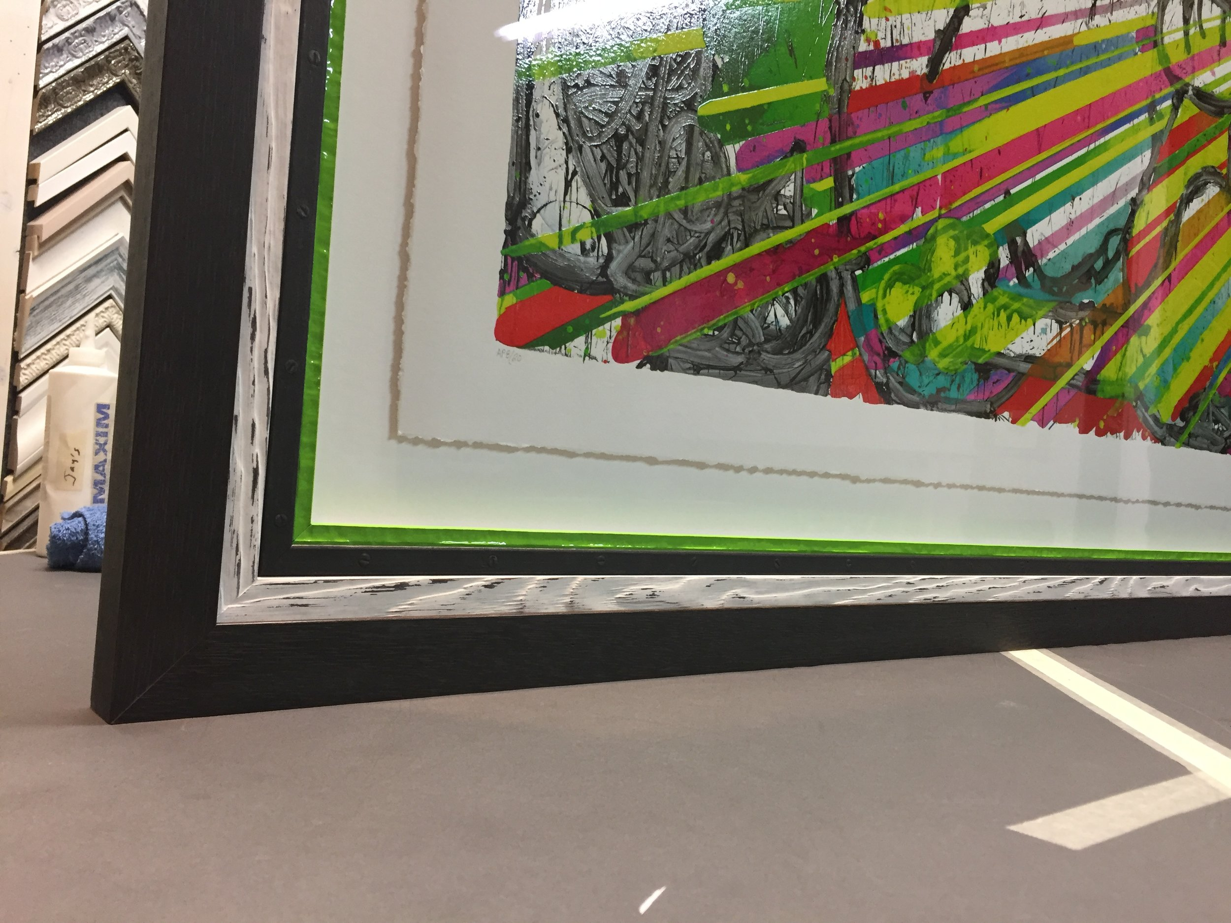 Floating Art in Stacked Frame
