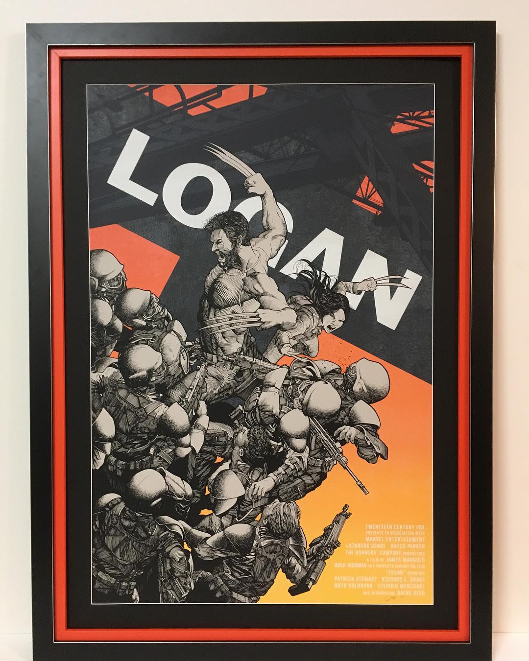 Framed X-Men Poster