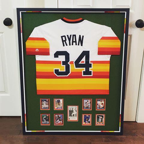 Custom Framed Nolan Ryan Memorabilia