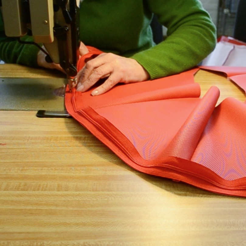 Snapshot of stitching process at our local factory