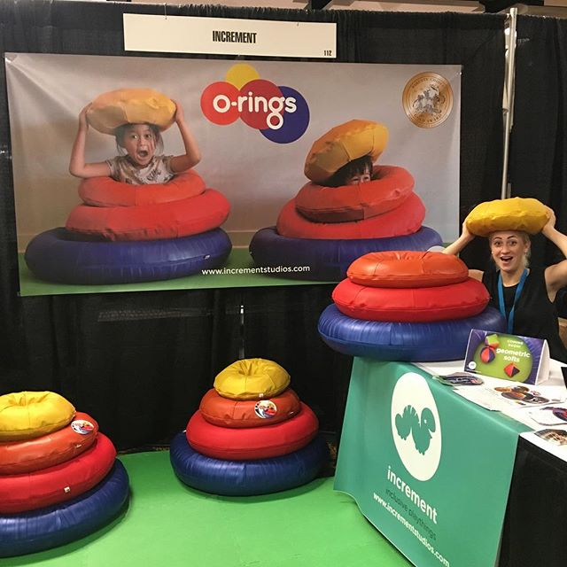 We're in #NOLA! All set up and ready to play at the #ZeroToThree2016 Conference, Booth 112 🙌 come say hi!! . . . . . #play #playmatters #sensoryplay #openendedplay #inclusiveplay #inclusion #ot #toys #toydesign #infants #toddlers #earlychildhood #madeinusa #parentschoice