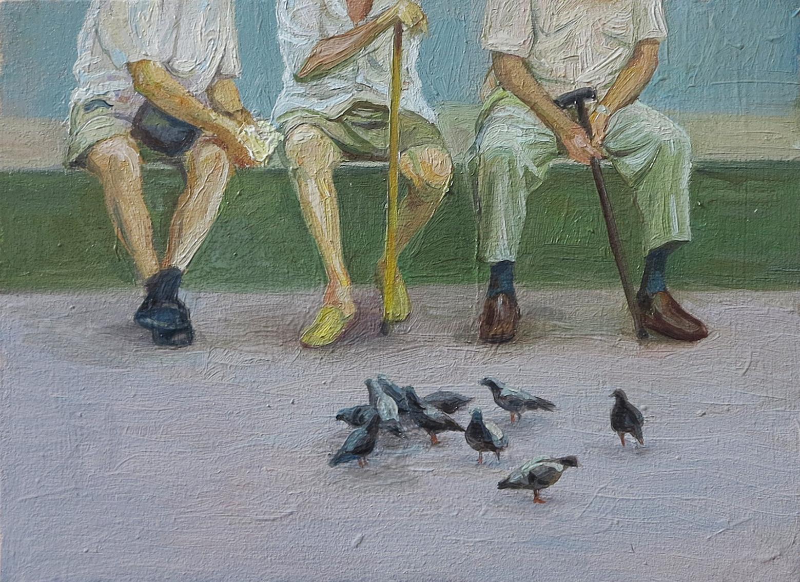 Oil on wood 16 x 22