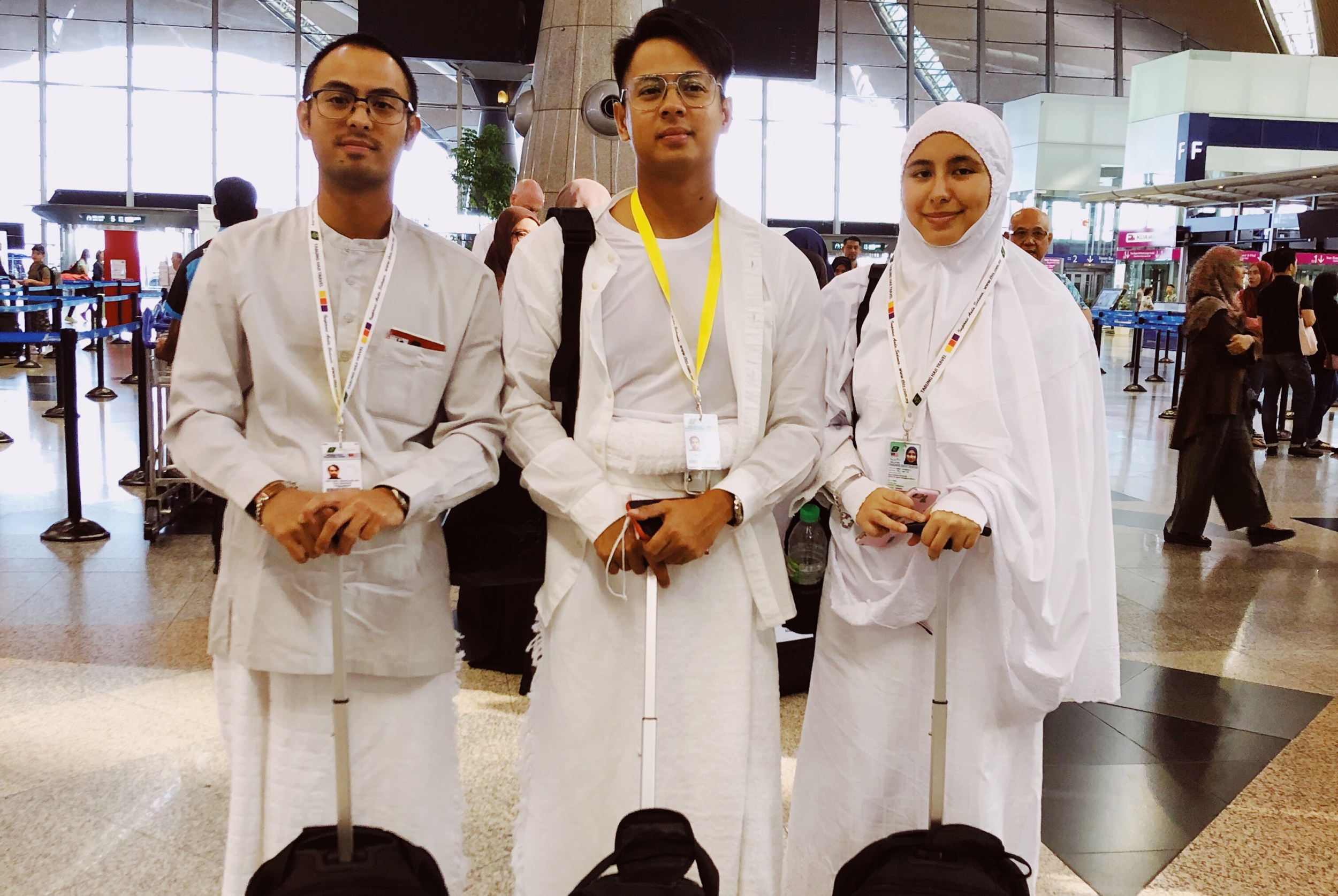 At KLIA before our flight to Jeddah.