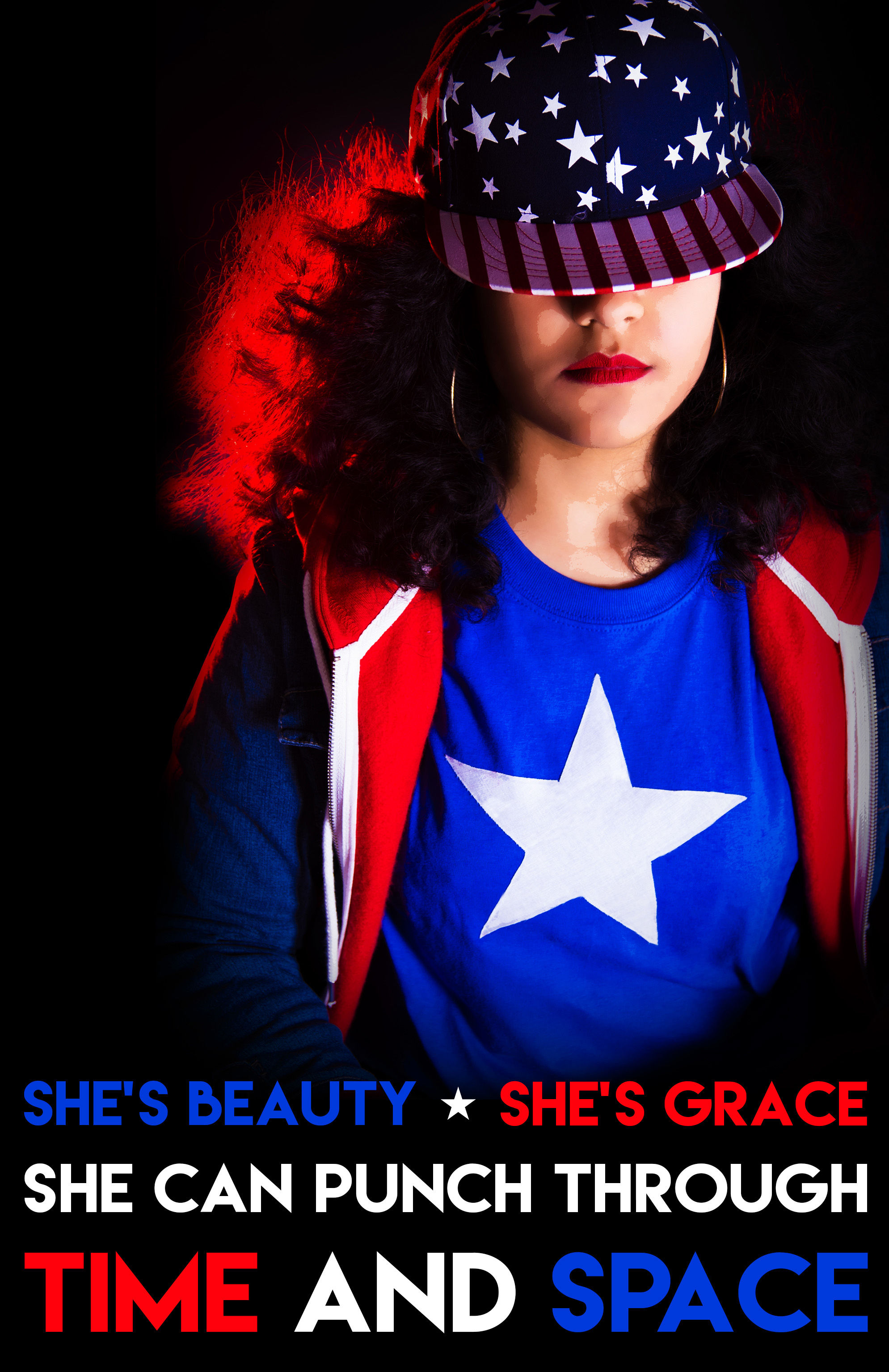Miss America Chavez cosplay photoshoot by Maacah Davis