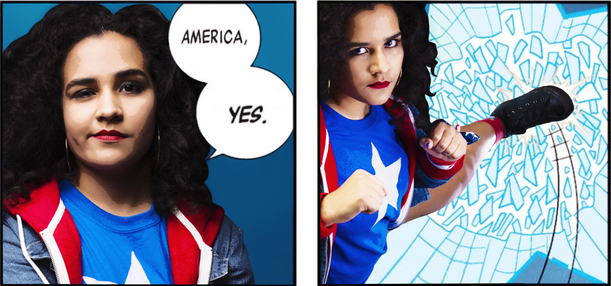 America yes America Chavez comic photoshoot by Maacah Davis