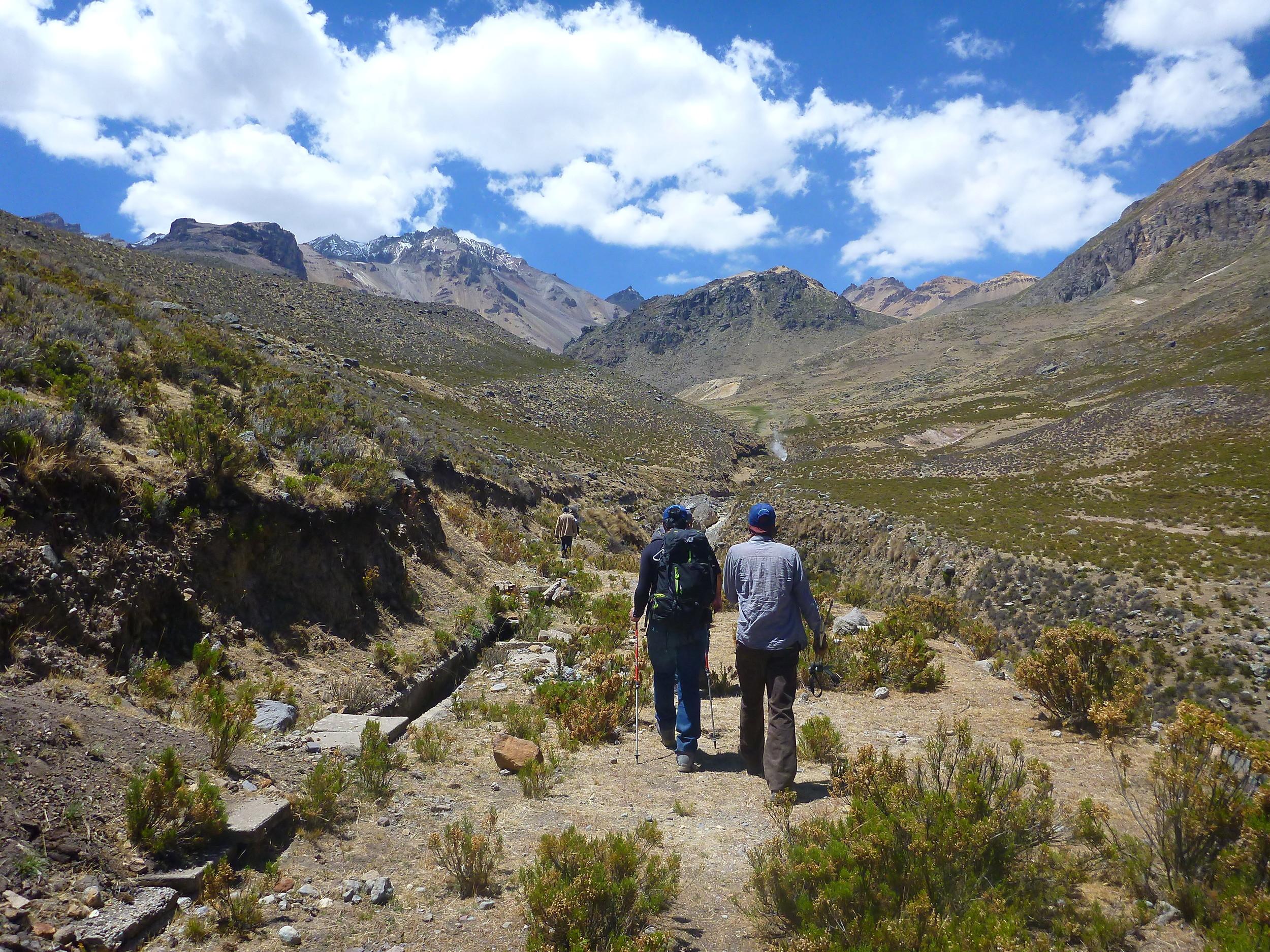 Hiking up to Hualca Hualca.