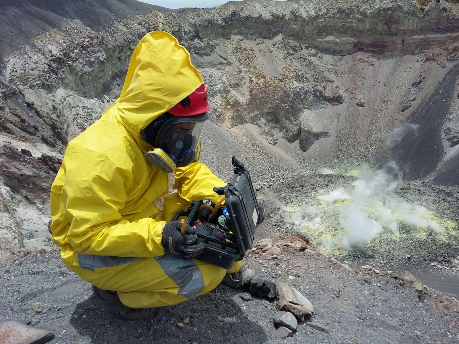 Lava dome in the El Misti crater. Photo: Pablo Masias Alvarez