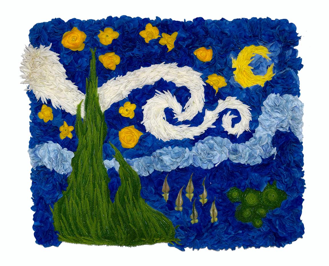"""""""floral swirl / starry sky"""" matt hollis 2016"""