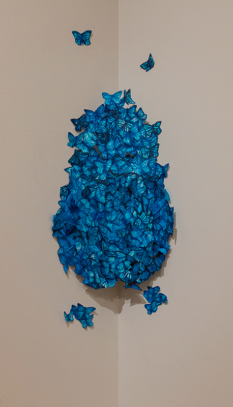Swarm to Conform (blue morpho)