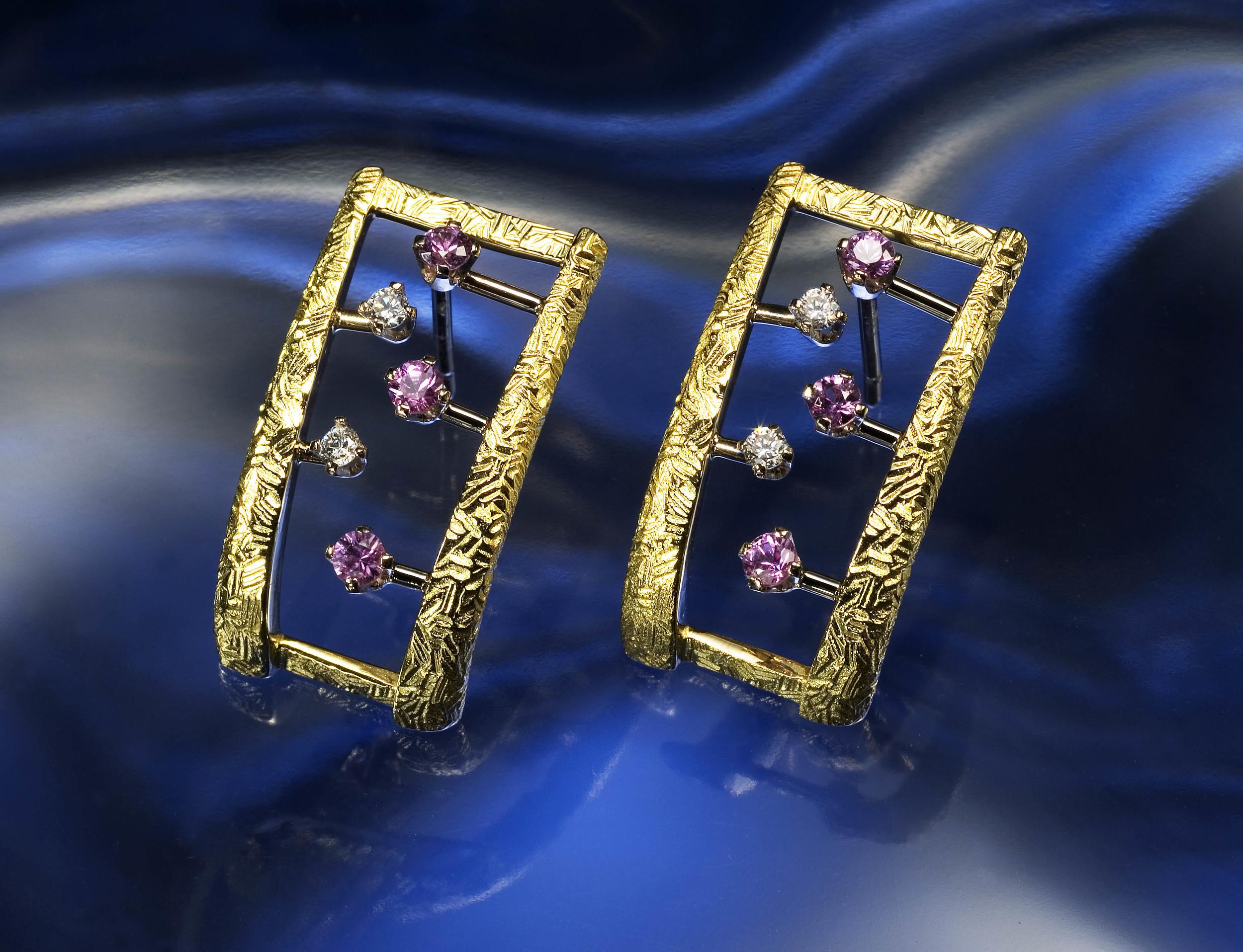 Earrings on Glass.