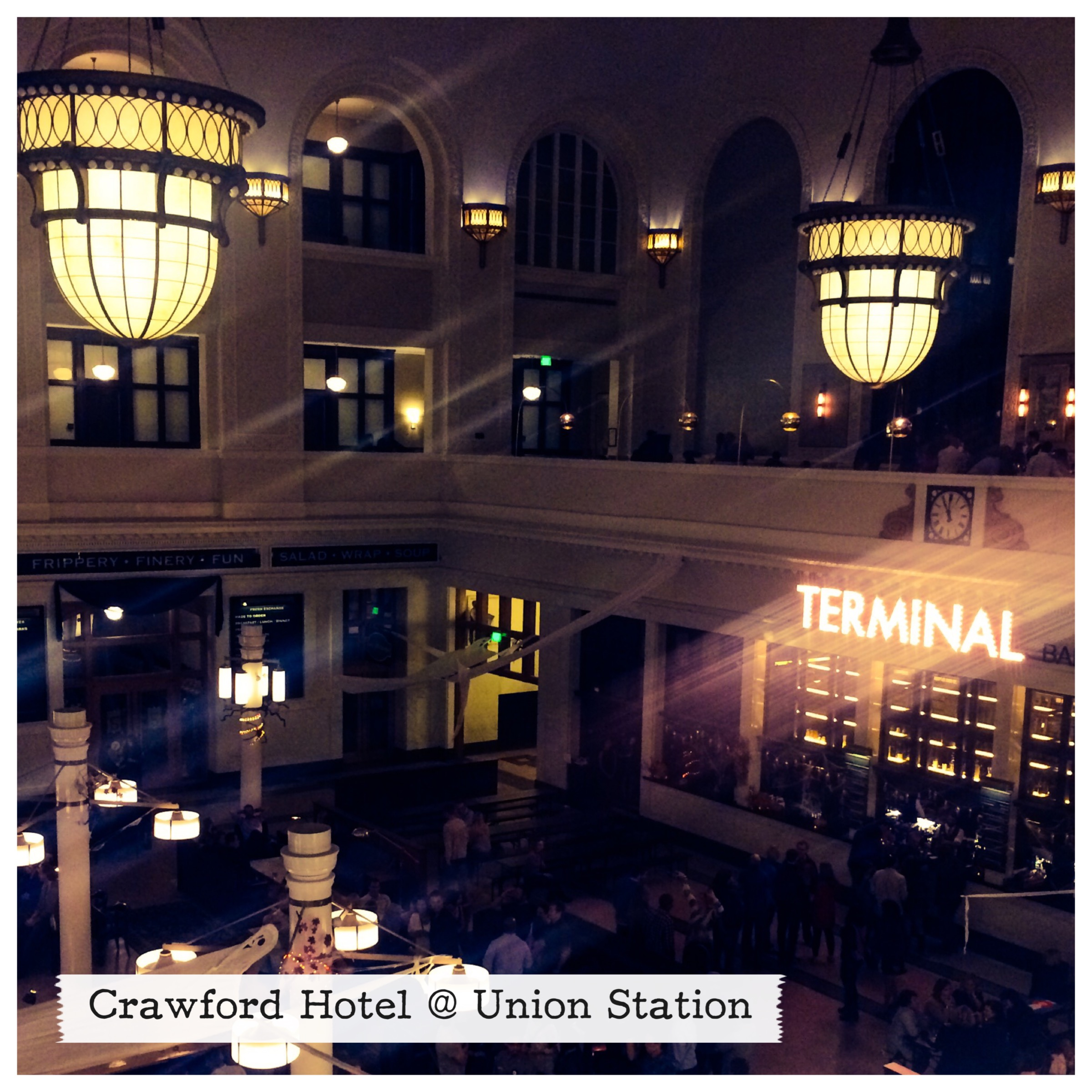 The in-Terminal lobby at the Crawford
