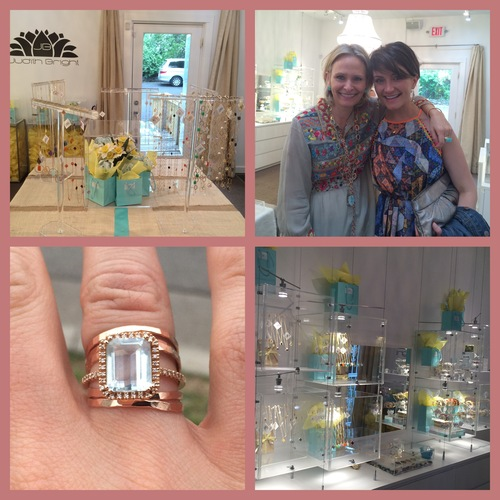 With Judith at her shop