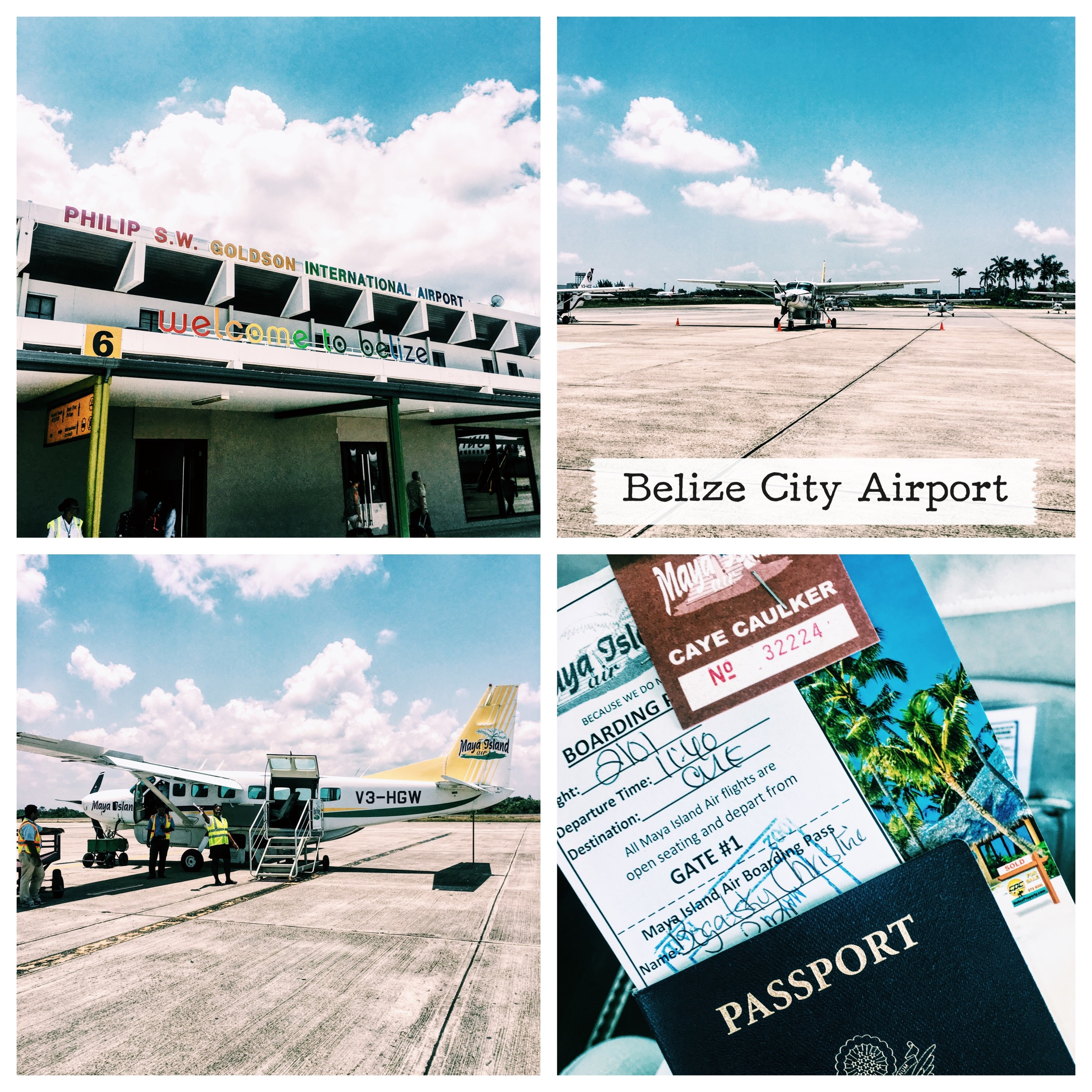 Flying into & over Belize