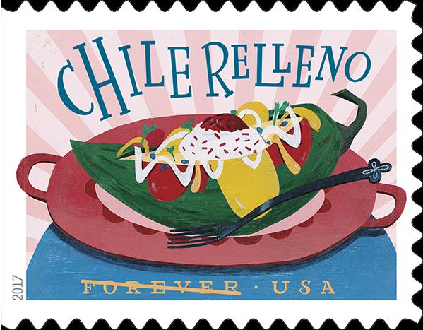 USPS Delicioso Forever Stamp - Chile Relleno
