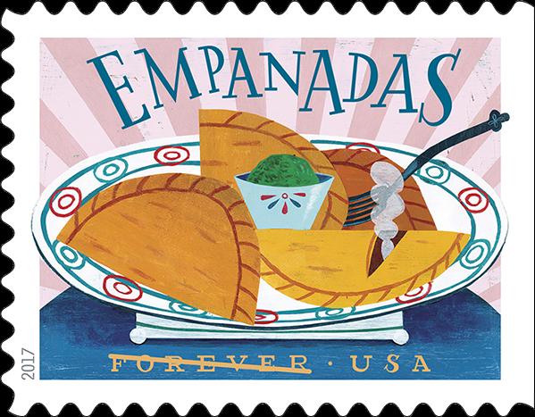 USPS Delicioso Forever Stamp - Empanadas