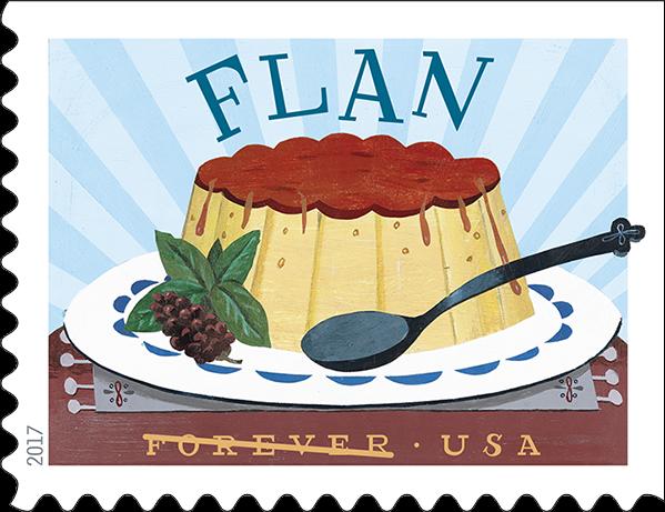 USPS Delicioso Forever Stamp - Flan