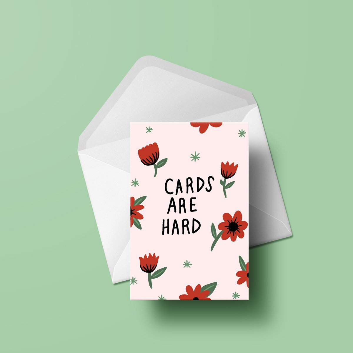 Stay Home Club Cards Are Hard Greeting Card