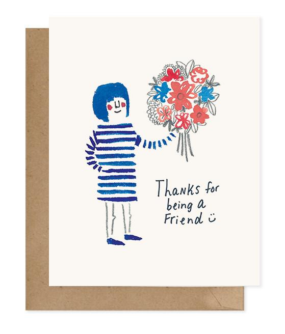 Chipper Things Thanks For Being A Friend Greeting Card