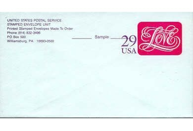1991 Love Stamped Envelope