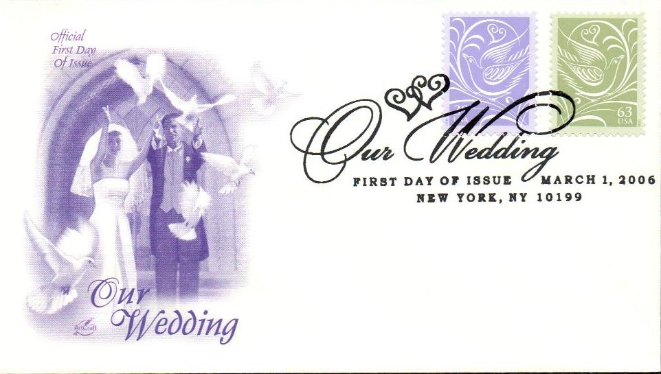 2006 Our Wedding Stamp Pair