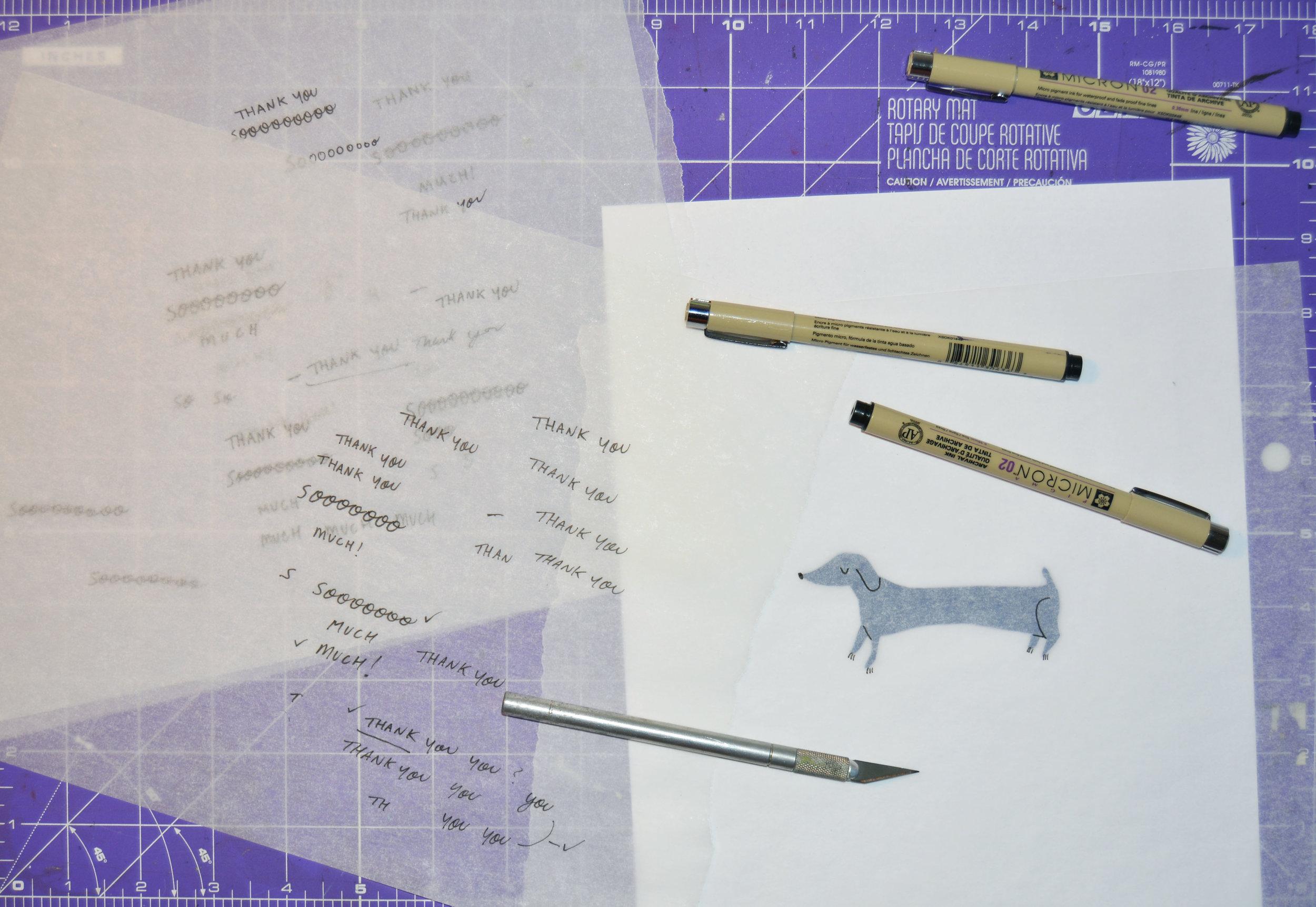 Badger & Burke illustration sketching