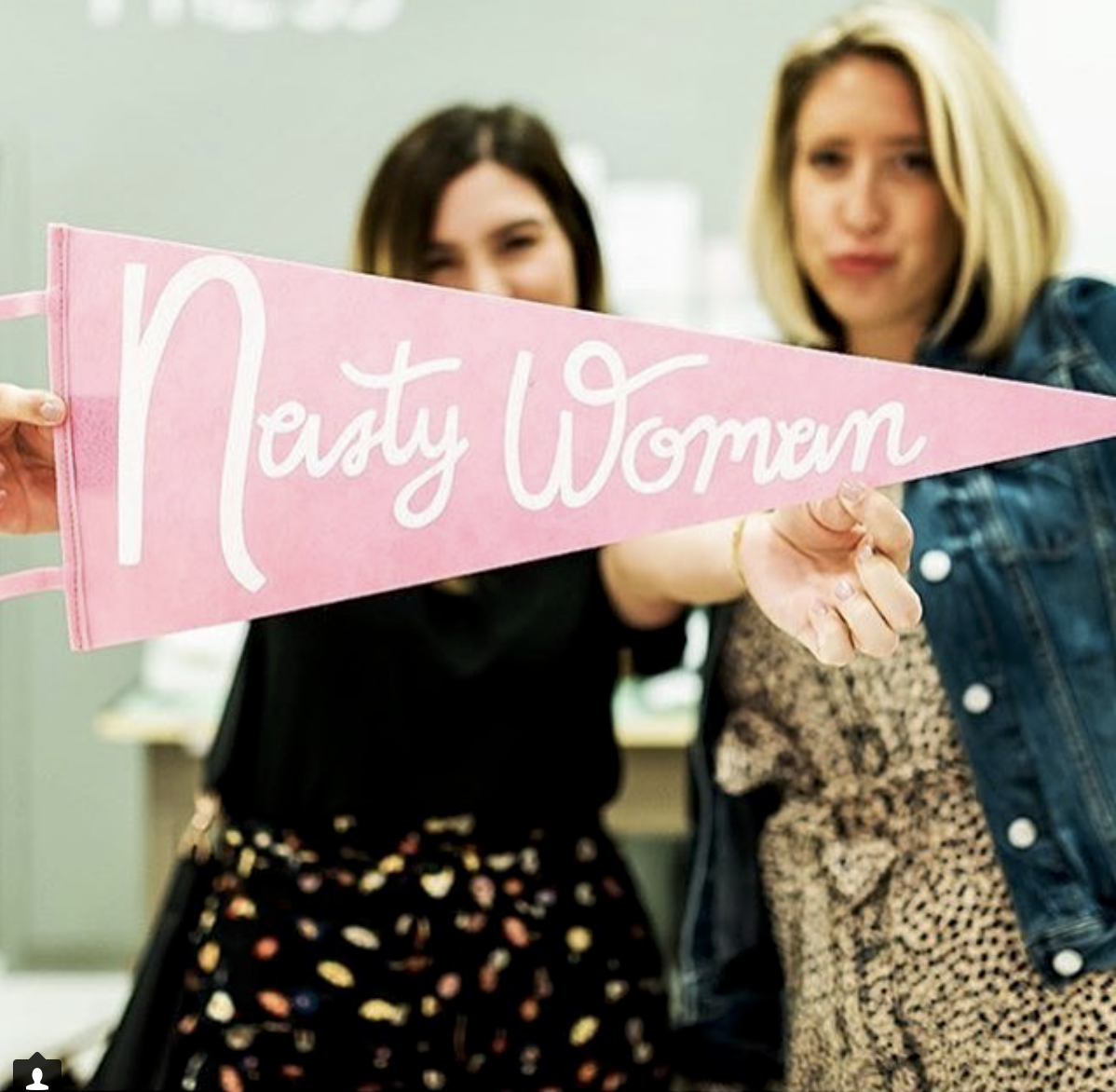 Nasty Woman banner by Aviate Press