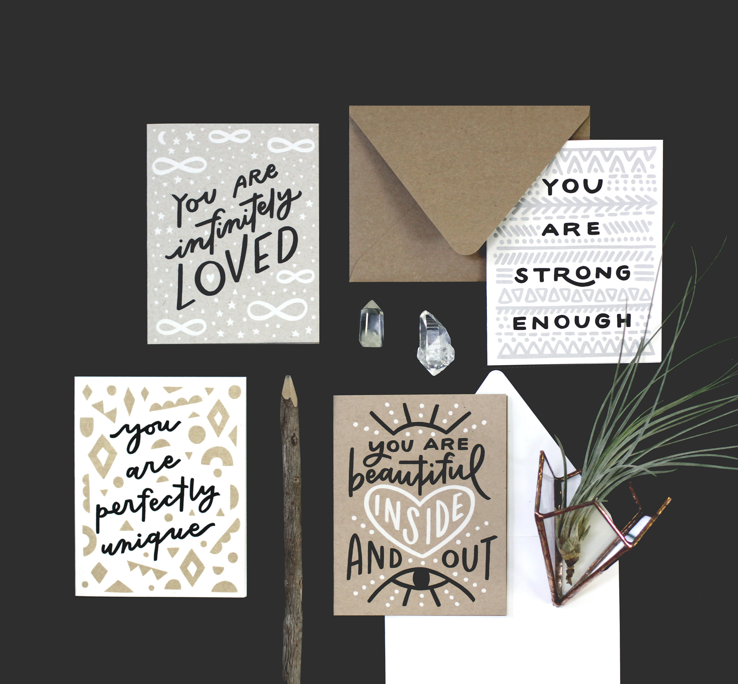 "Worthwhile Paper ""Positive Reminder"" Greeting Cards"